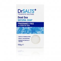 Dr Salts Dead Sea Natural Soap Fragrance Free for Sensitive Skin 150 gr