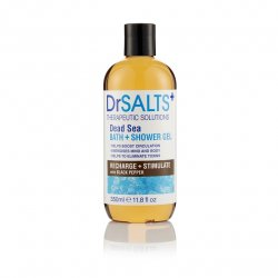 Dr Salts Dead Sea Bath & Shower Gel Recharge & Stimulate with Black Pepper 350 ml