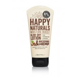 Happy Naturals Macadamia & Hemp Moisture Boost Blow Dry Lotion 150ml