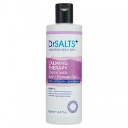Dr Salts Epsom Salts Bath and Shower Gel Calming Therapy with Lavender and Lemon Balm 350ml
