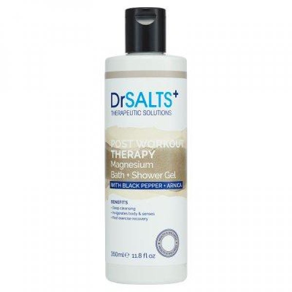 Dr Salts Epsom Salts Bath and Shower Gel Recovery Therapy with Black Pepper and Arnica 350ml