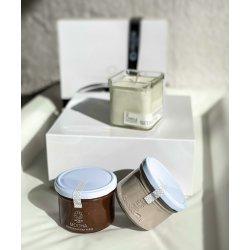 ariadne Love Affair Gift Box (Candle Massage 200ml- Mocha Brown Sugar Body Scrub 225ml-Nutritious & Delicious Chocolate Body Butter 225ml)